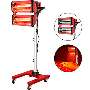 2x1000w Baking Infrared Paint Curing Lamp 602 Spray Booth Heater Filter