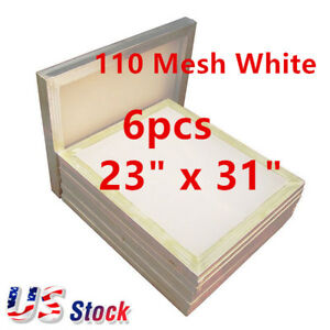 6pcs 23 X 31 Aluminum Silk Screen Frame With 110 Mesh White Us Stock
