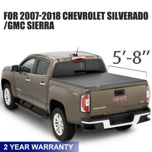 For 07 17 Chevy Silverado 1500 2500 3500 sierra 1500 5 8 Rear Bed Tonneau Cover