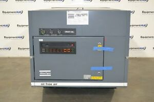 Atlas Copco Zr 237 125 50hp Oil Free Water Cooled Rotary Screw Air Compressor