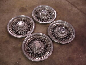 Vintage Chevy Caprice 15 Wire Wheel Hubcaps Set Of Four Landau