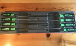 Snap On Green Soft Handled 8pc Cabinet Screwdriver Set Sgdxl80bg