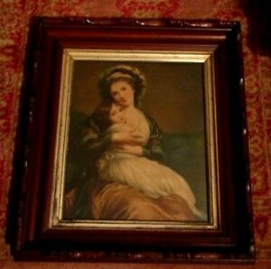 Antique Large Victorian Walnut Carved Picture Frame 15 X 17