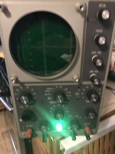 Vintage Heathkit Model 10 12 Laboratory Oscilloscope Tested Works