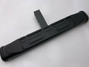 2 Receiver Black Trailer Towing Tailgate Hitch Cover Rear Step Bar Guard