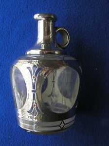 American Sterling Silver Overlay Whiskey Decanter