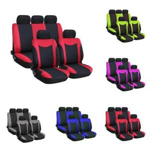 Universal Car Seat Cover 9 Set Full Seat Covers For Suv Van Sedans Four Season