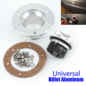 1x Universal Billet Aircraft Style Fuel Cell Gas Cap Flush Mount 6 Hole Cells V1