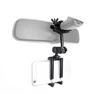 Universal Auto Car Rear View Mirror Mount Stand Holder Cradle For Mobile Phone V