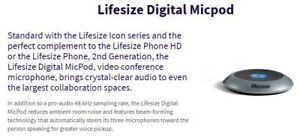 Lifesize Digital Micpod Conference Phone Extender Lfz 020 Micpod Only Tested