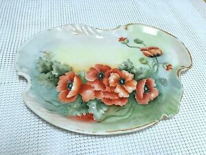 Limoges Antique Porcelain Dish Tray Signed Plate Ultra Rare Museum Piece