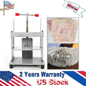 300 215mm A4 Size Manual Flat Paper Press Machine Stainless screw 100 New