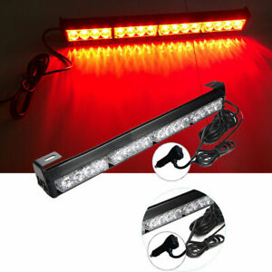 16 Led Red Emergency Warning Lights Bar Flashing Truck Police Strobe Lamp 12v