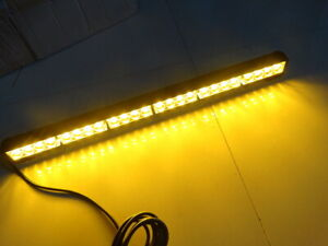 24 Led Amber Traffic Advisor Emergency Warning Flashing Strobe Light Bar Yellow