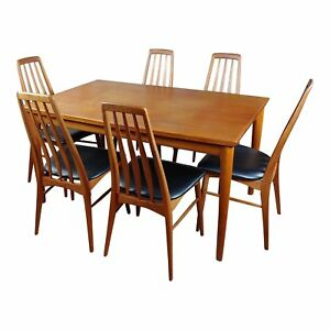 Danish Mid Century Teak Dining Table W 6 Chairs By Koefoeds Hornslet