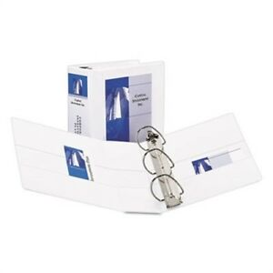 Durable View Binder With Two Booster Ezd Rings 5 Capacity White