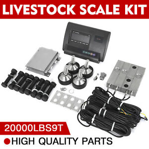 20000lbs Livestock Scale Kit For Animals Pallet Scale Indicator Load Cells