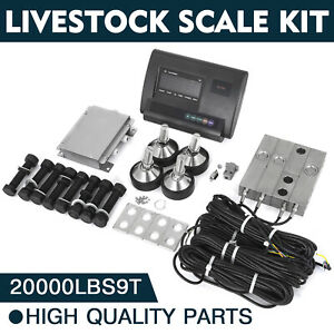 20000lbs Livestock Scale Kit For Animals Waterproof Indicator Animal Weighing