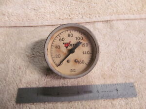 Vintage Watts 0 160 Lbs Air Pressure Gauge 2 1 2 Face Made In Usa