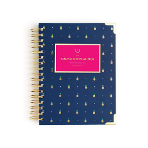 Emily Ley Paper 2017 2018 Academic Daily Simplified Planner Gold Pineapple