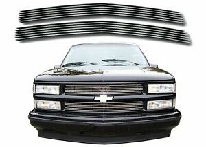 Polished Aluminum Billet Grill For 1994 1999 Chevy C K 1500 2500 3500 New Usa