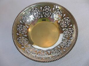 English Clewley Co Pierced Sterling Silver Nut Bowl Bon Bon Bowl Candy Dish