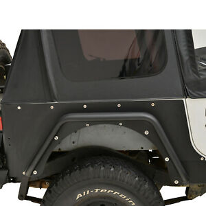 87 96 Jeep Yj Wrangler Rear Corner Rocker Guard Metal A Pair Rock Crawler