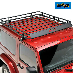 2007 2018 Jeep Wrangler Jk 2 4 Door Roof Rack Cargo Basket