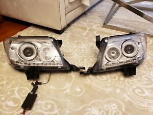 Generic For Toyota Hilux Vigo Led Headlights Ccfl Angel Eyes Lights 2011 To 2014