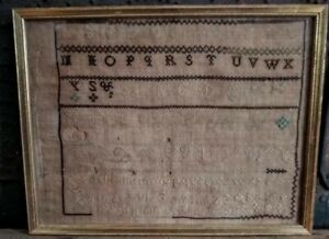 Antique Early Signed Sampler 1825