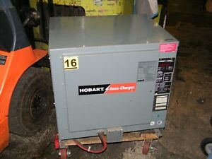 Hobart Accu charge Forklift Battery Charger 600c3 12 510c3 24 Volts 12 Cells