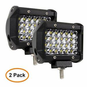 2pcs 4inch 144w Quad Row Led Light Off Road Lights For Truck Jeep Boat Atv Suv