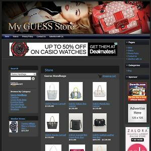 Guess Handbag Purse Store Fully Automated Internet Website Business For Sale