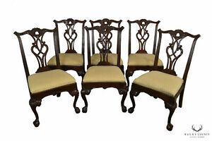 Henredon Rittenhouse Square Set 6 Mahogany Chippendale Ball Claw Dining Chairs