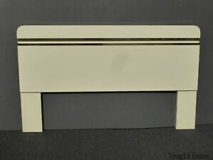 Vintage Mid Century Italian Style Rounded Corners Queen Headboard Solid Wood