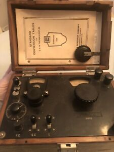 Vintage Leeds Northrup Co Potentiometer 318122 In Wooden Box Free Shipping