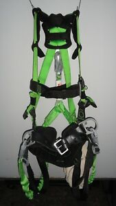 Miller Revolution Harness W Pad Belt Side D rings Dual leg Shock Lanyard