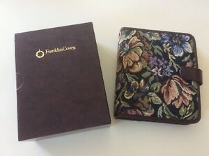 Franklin Covey Compact Tapestry Planner Binder Pages Tabs Envelopes Lot