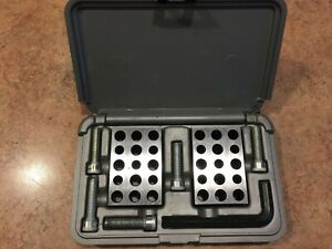 Machinest Tools Brown And Sharpe Ultra Precision 1 2 3 Blocks With Case screws