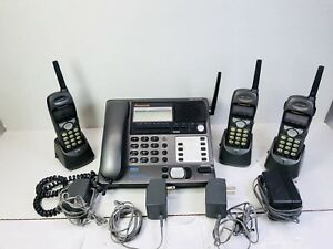 Panasonic Kx tg4000b 4 Line Business Phone System With 3 Extension Phones