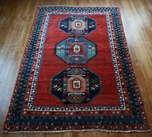 Antique Caucasian Kazak Rug 5 X8