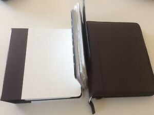 Franklin Covey Classic Top grain Verona Leather Planner Storage Binder Pages Lot