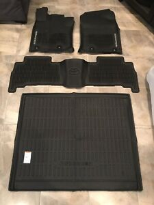 2013 2019 Toyota 4runner Oem All Weather Floor Mats With Cargo Deck Liner