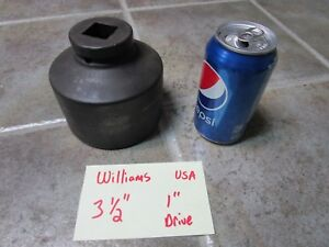 3 1 2 Williams Usa 7 6112 Impact Socket 1 Drive 6 Point Fast Shipping