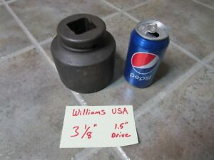 3 1 8 Williams Usa 8 6100 Impact Socket 1 5 1 1 2 Drive 6 Point Fast Shipping