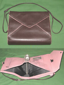 Classic 1 25 Pink Chocolate Brown Leather Franklin Covey Planner Binder 4122