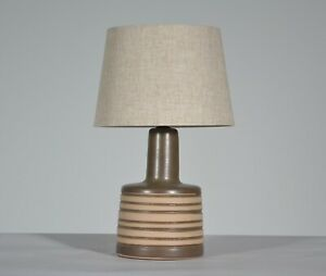 Vintage Jane Gordon Martz For Marshall Studios Brown Tan Ceramic Table Lamp