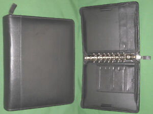 Classic 1 5 Black Top Grain Leather Franklin Covey Quest Planner Binder 6000