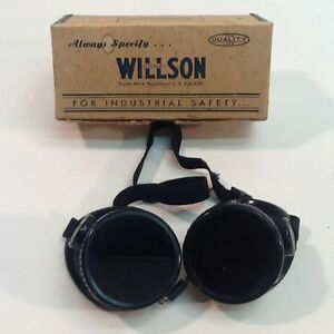 Vintage Wilson Welding Goggle Waw10 Steampunk Costume Iron Work Costume Core