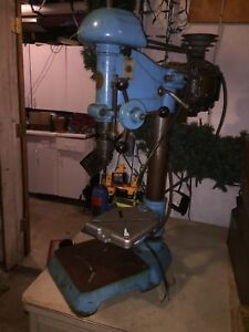 Antique Atlas Drill Press With Packard Motor 1950 s